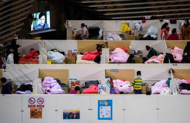 Pasien Virus Corona di Stadion Olahraga Wuhan