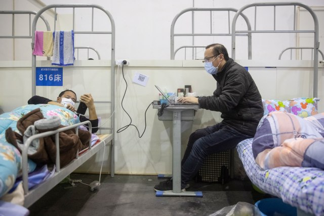 Pasien Virus Corona di Pusat Pameran Wuhan
