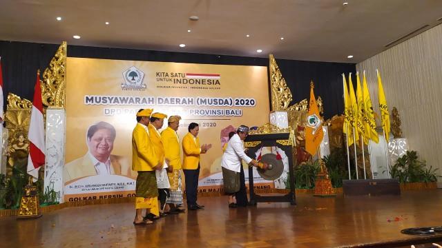Musda Golkar Bali, Airlangga Titip Pesan Tak Perlu Voting (7207)