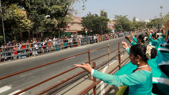Foto: Trump Disambut Ratusan Ribu Warga saat Melawat ke India (69128)