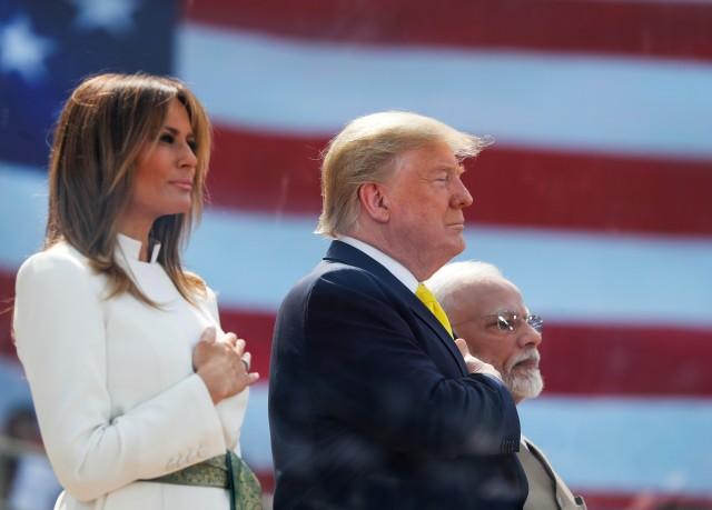 Foto: Trump Disambut Ratusan Ribu Warga saat Melawat ke India (69134)