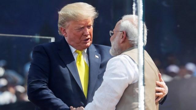 Foto: Trump Disambut Ratusan Ribu Warga saat Melawat ke India (69136)