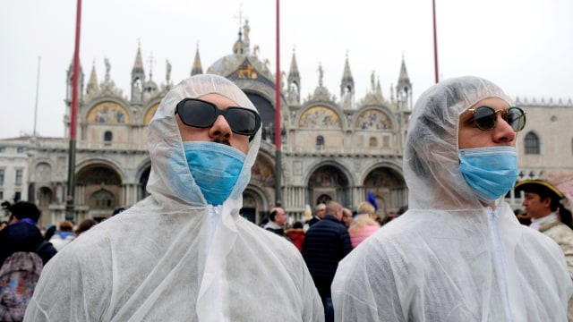 Karnaval italia dampak virus corona