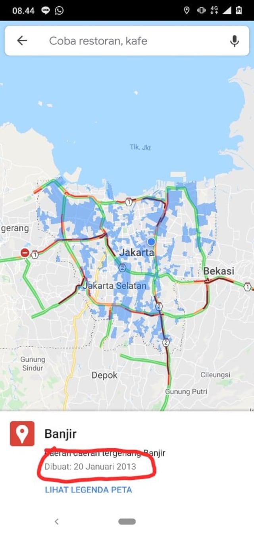 Hoaxbuster: Google Maps Banjir DKI Jakarta yang Viral Ternyata Tahun 2013 (98594)