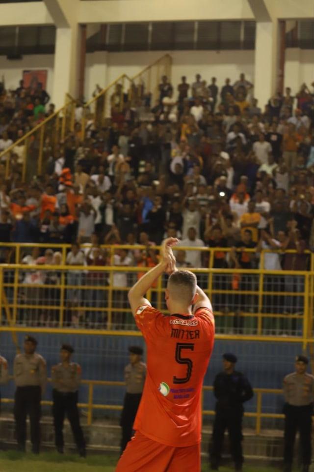 Foto Aksi Persiraja Banda Aceh Tahan Imbang Bhayangkara Fc Di Debut Liga 1 Kumparan Com