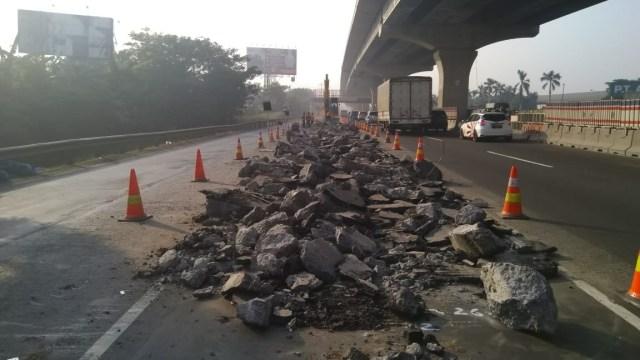 Waspada Macet, Ada Perbaikan Jalan di Ruas Tol Jakarta-Cikampek (78205)