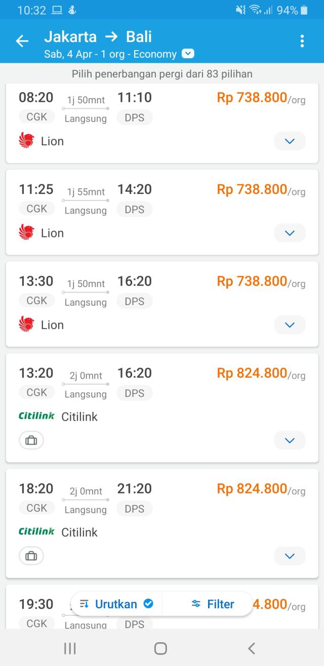 Diskon Hingga 50 Persen Tiket Pesawat Ke Bali Dan Lombok Masih Rp 700 Ribuan Kumparan Com