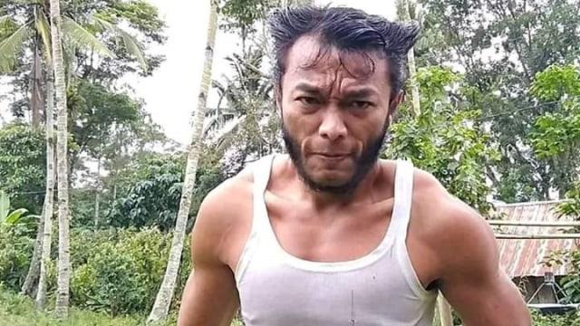 Viral pria mirip Wolverine