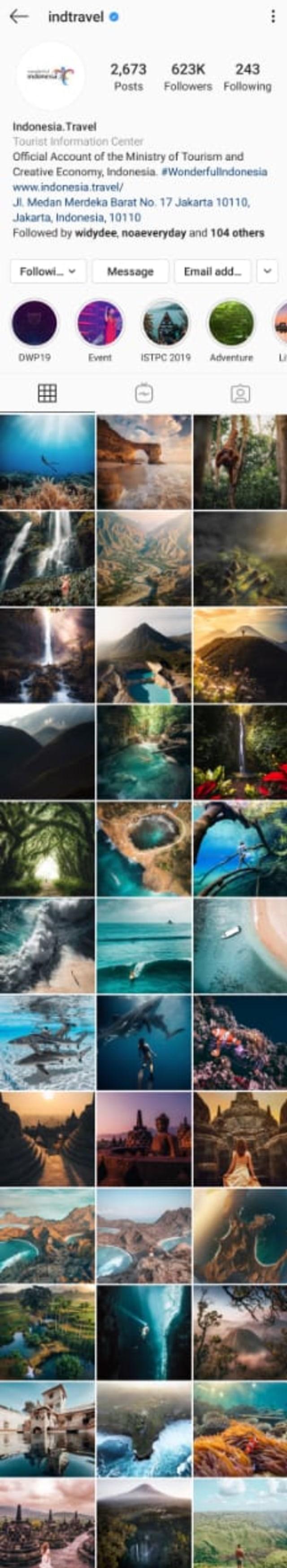 Foto 'Gunung Lancip' Lenyap dari Akun Instagram Kemenparekraf, Kok Bisa?  (223451)