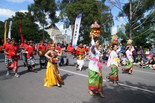 Ragam Budaya Indonesia Meriahkan Moomba Festival Parade 2020 di Melbourne (210176)