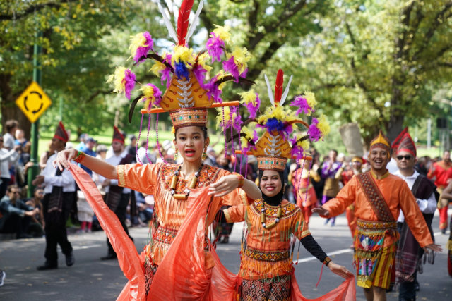 Ragam Budaya Indonesia Meriahkan Moomba Festival Parade 2020 di Melbourne (210181)