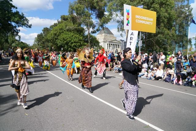 Ragam Budaya Indonesia Meriahkan Moomba Festival Parade 2020 di Melbourne (210174)