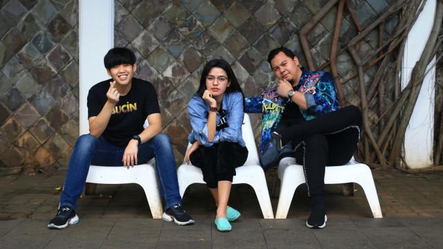 Foto: Chandra Liow, Tommy Limmm, dan Susan Sameh Cerita Keseruan Film Bucin (36767)