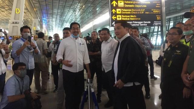 Erick Thohir pantau Terminal 3 Bandara Soetta