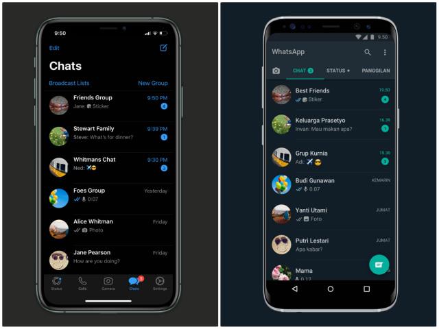 Cara Pakai Fitur WhatsApp Terbaik Tahun 2020 di HP Android dan iPhone (89620)