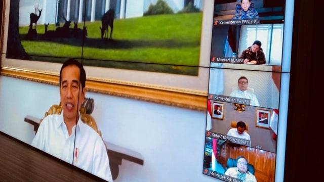 Rapat terbatas dipimpin Jokowi dan Ma'ruf