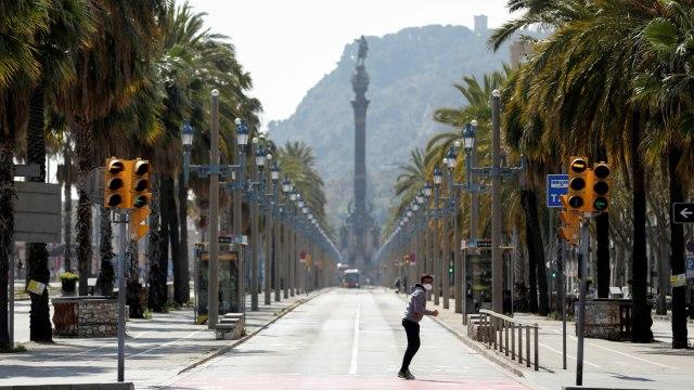 Virus Corona-Spanyol-Barcelona