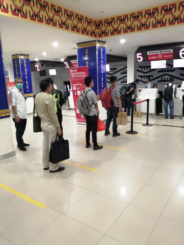 PTR- Social distancing di Bandara Soekarno-Hatta