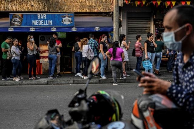 Panic buying, Kolombia, supermarket