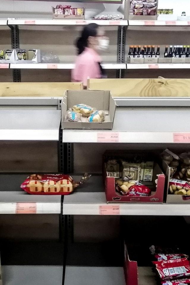 PTR, Panic buying, Kolombia, supermarket
