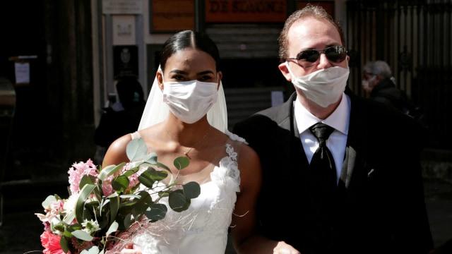 virus corona - Italia lockdown - Pengantin