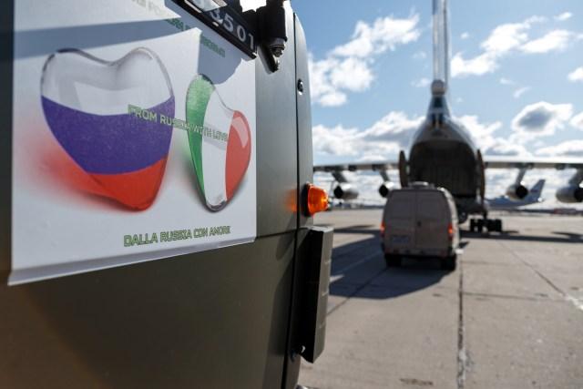 Presiden Rusia Vladimir Putin bantu Italia tangani corona