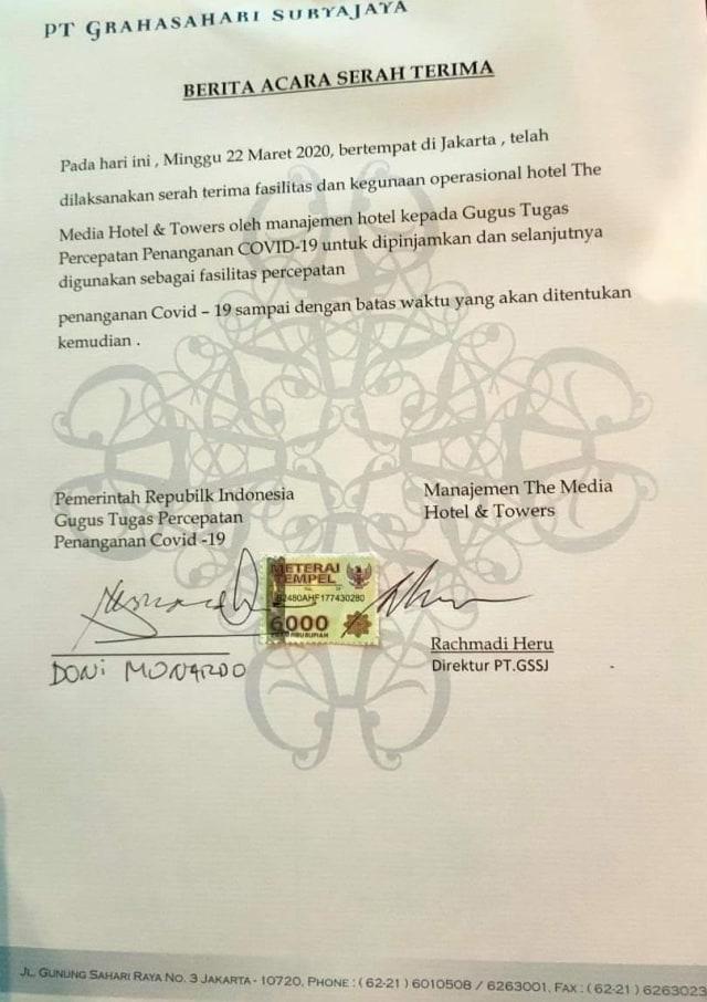 Surya Paloh Ubah Hotel Bintang 5 untuk Posko Tenaga Medis COVID-19 (224822)