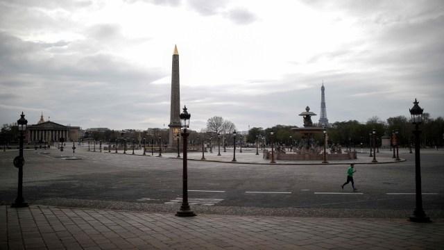 Virus corona Prancis- aktivitas warga