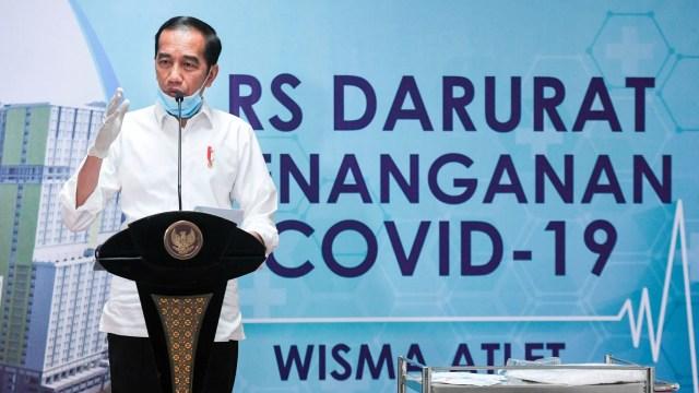 Jokowi Tinjau RS Darurat Wisma Atlet