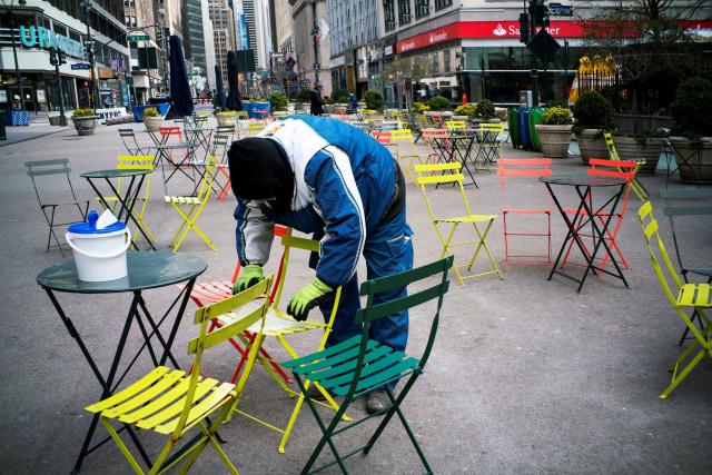 Virus corona- lockdown di New York Amerika Serikat