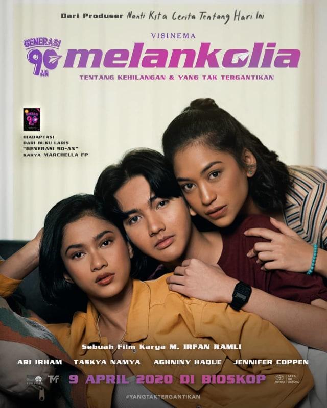 Poster Film Generasi 90-an: Melankolia (potrait)
