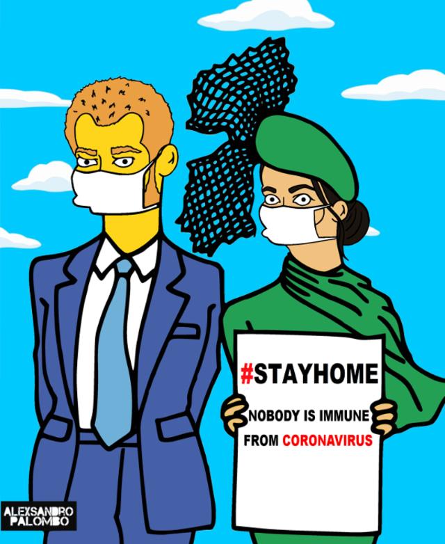 Gambar Kartun Unik Keluarga Kerajaan Inggris untuk Kampanyekan Social Distancing (284925)