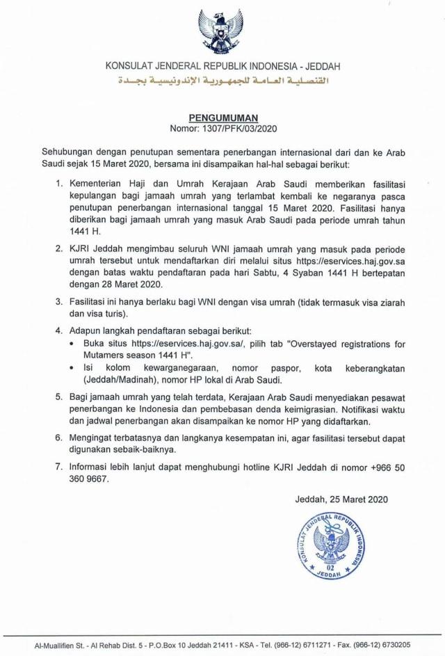 Seruan agar jemaah umrah Indonesia melapor