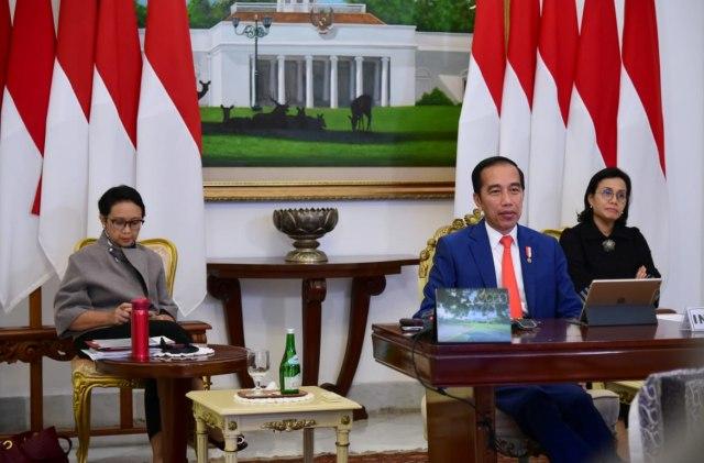 Presiden Joko Widodo ikuti KTT LB G20 dari Istana Bogor