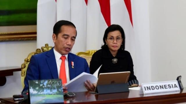 Presiden Jokowi ikuti KTT LB G20 dari Istana Bogor