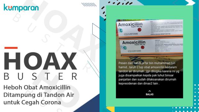Hoaxbuster: Heboh Obat Amoxicillin Ditampung di Tandon Air untuk Cegah Corona (11670)