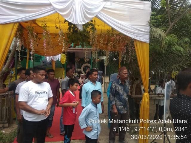Polisi bubarkan pesta pernikahan di Aceh Utara