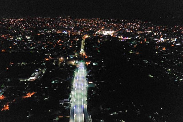 Foto Banda Aceh Dari Udara Saat Jam Malam Sepi Bak Kota Hantu Kumparan Com