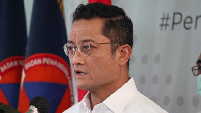 Menteri Sosial Juliari P Batubara di BNPB.