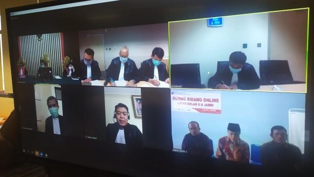 Sidang putusan 3 Anggota DPRD Jambi