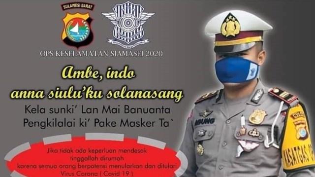 Polres Mamasa Napelau Lako Anggana Masyarakat Umpake Masker (82702)
