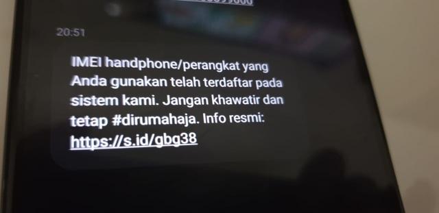 Waspada Jebakan SMS 'IMEI HP Tidak Terdaftar' dari Nomor Kominfo Palsu (12785)