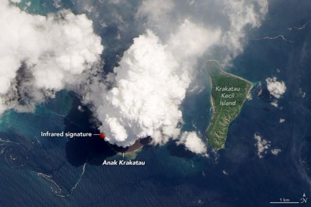 NASA Ungkap Foto Menakjubkan Erupsi Gunung Anak Krakatau (43679)