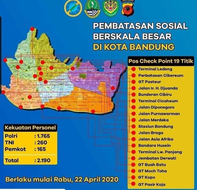 19 Check Point Psbb Kota Bandung Pengendara Nakal Akan Ditindak Kumparan Com