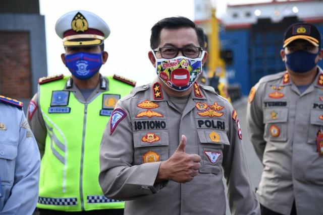 Irjen Pol Istiono meninjau Pelabuhan Merak, Banten.