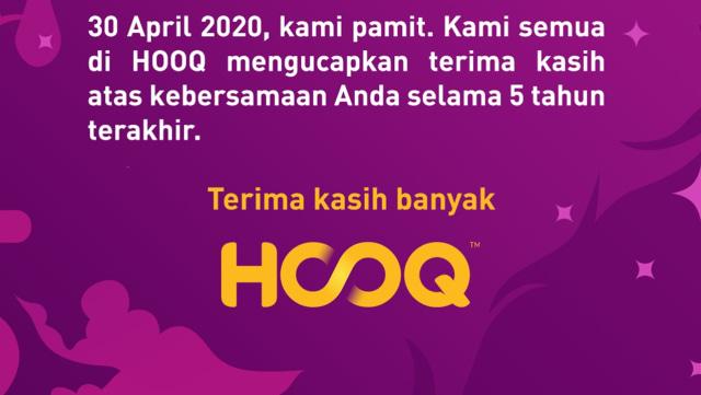 Pamit Mulai 30 April, Hooq Kirim 'Surat Cinta' untuk Pengguna (21133)