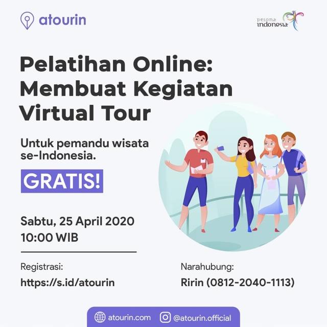 Atourin Selenggarakan Pelatihan Online Gratis Terkait  Virtual Tour (898971)