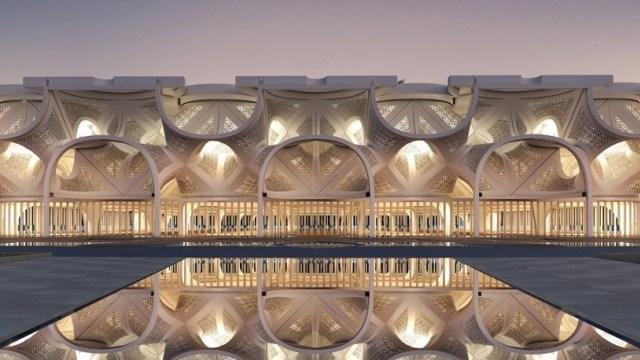 Indahnya Masjid di Dubai Ini, Dihiasi dengan Gemerlap Cahaya yang Memukau (218523)