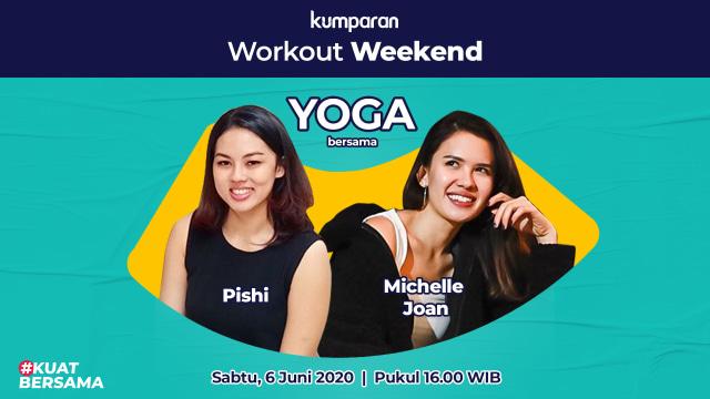 Live Kelas Yoga Bareng Michelle Joan Dan Pishi Kumparan Com