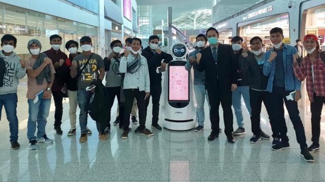 Para ABK WNI yang dipulangkan dari Busan